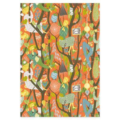 Melodi Folk Wallpaper in Orange