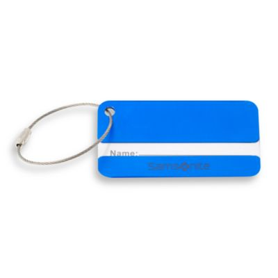 Samsonite® Aluminum Luggage ID Tags