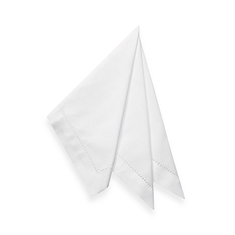 Hemstitch Napkins in White (Set of 4)