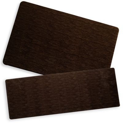 Bungalow Flooring Microfibre Neoprene 23-Inch x 60-Inch Runner in Miller Brown