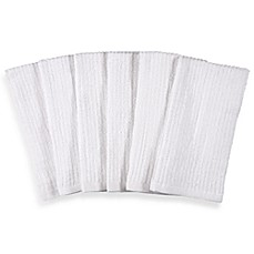 Real Simple® Bar Mop Kitchen Towels in White (Set of 6)