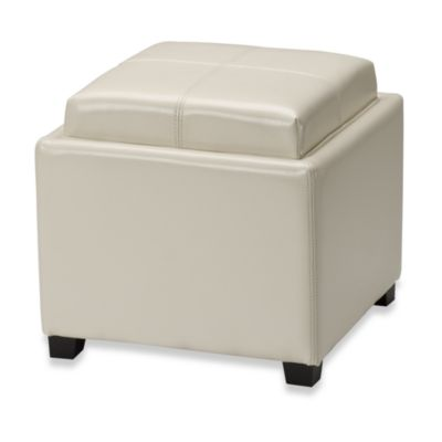Safavieh Hudson Leather Harrison Single Tray Ottoman