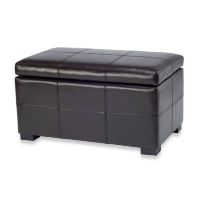 Safavieh Madison Small Storage Ottoman in Brown