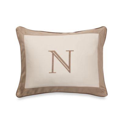 Ampersand® Colorblock Neutral Monogrammed Toss Pillow - N