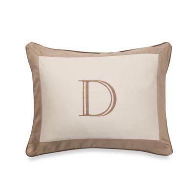 Colorblock Neutral Monogrammed Toss Pillow