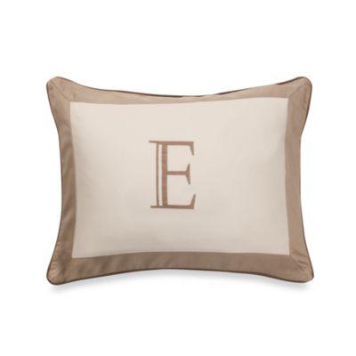 Ampersand® Colorblock Neutral Monogrammed Toss Pillow - E