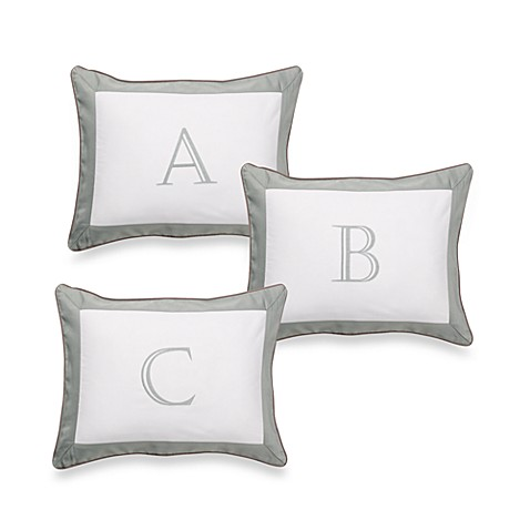 Ampersand® Colorblock Eucalyptus Monogrammed Toss Pillow, 100% Cotton