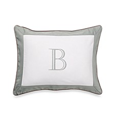 Ampersand® Colorblock Eucalyptus Monogrammed Toss Pillow - B