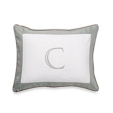 Ampersand® Colorblock Eucalyptus Monogrammed Toss Pillow - C