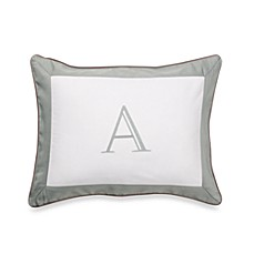 Ampersand® Colorblock Eucalyptus Monogrammed Toss Pillow - A
