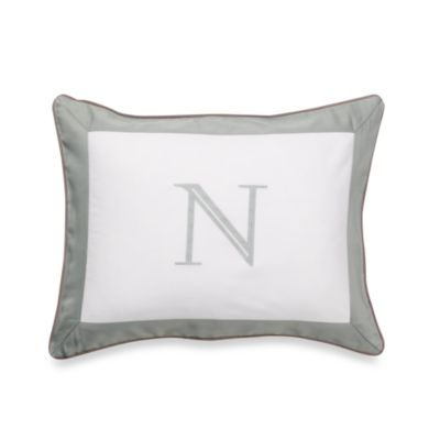 Ampersand® Colorblock Eucalyptus Monogrammed Toss Pillow - N