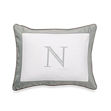 Ampersand® Colorblock Eucalyptus Monogrammed Toss Pillow - N
