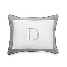 Ampersand® Colorblock Eucalyptus Monogrammed Toss Pillow - D