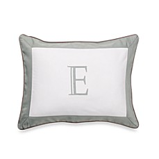 Ampersand® Colorblock Eucalyptus Monogrammed Toss Pillow - E