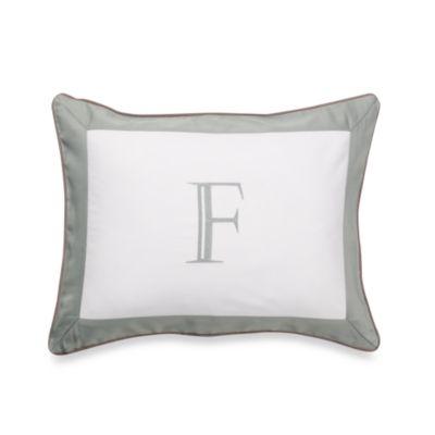 Ampersand® Colorblock Eucalyptus Monogrammed Toss Pillow - F
