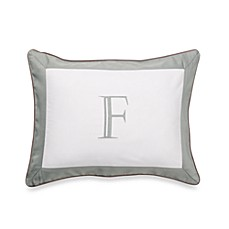 Ampersand® Colorblock Eucalyptus Monogrammed Toss Pillow - F