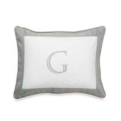 Ampersand® Colorblock Eucalyptus Monogrammed Toss Pillow - G