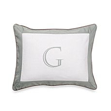 Ampersand® Colorblock Eucalyptus Monogrammed Toss Pillow - G