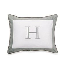 Ampersand® Colorblock Eucalyptus Monogrammed Toss Pillow - H