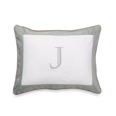Ampersand® Colorblock Eucalyptus Monogrammed Toss Pillow - J