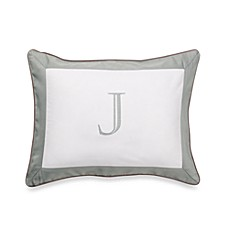 Ampersand® Colorblock Eucalyptus Monogrammed Toss Pillow - J