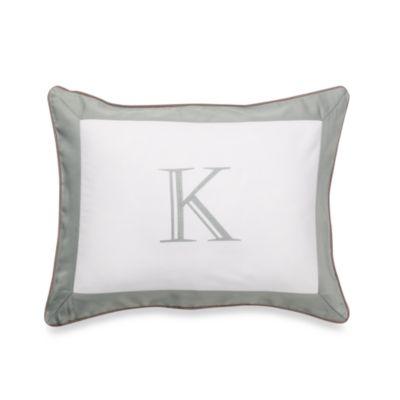 Ampersand® Colorblock Eucalyptus Monogrammed Toss Pillow - K