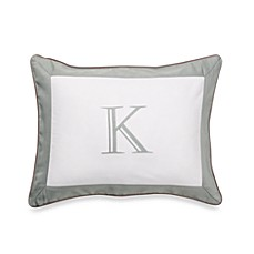 Ampersand® Colorblock Eucalyptus Monogrammed Toss Pillow - K