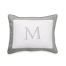 Ampersand® Colorblock Eucalyptus Monogrammed Toss Pillow - M