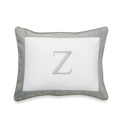 Ampersand® Colorblock Eucalyptus Monogrammed Toss Pillow - Z