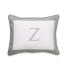 Ampersand® Colorblock Eucalyptus Monogrammed Toss Pillow - Z