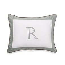 Ampersand® Colorblock Eucalyptus Monogrammed Toss Pillow - R