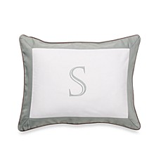Ampersand® Colorblock Eucalyptus Monogrammed Toss Pillow - S