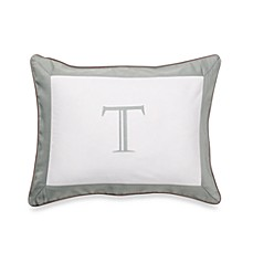 Ampersand® Colorblock Eucalyptus Monogrammed Toss Pillow - T