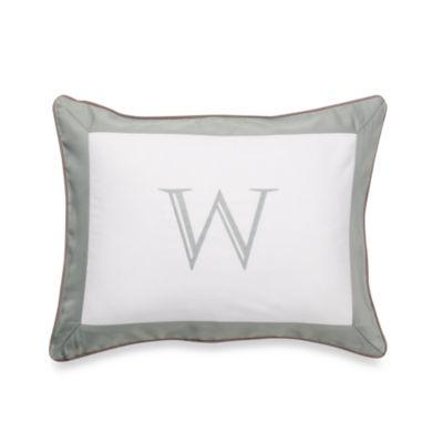 Ampersand® Colorblock Eucalyptus Monogrammed Toss Pillow - W