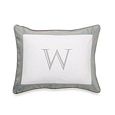 Ampersand® Colorblock Eucalyptus Monogrammed Toss Pillow - W