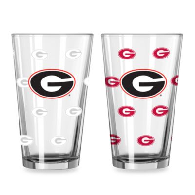 University of Georgia Color Changing 16-Ounce Pint Glasses (Set of 2)