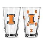 University of Illinois Collegiate Color Changing Logo Glasses (Set of 2)