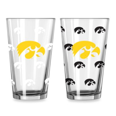 University of Iowa Collegiate Color Changing Logo Glasses (Set of 2)