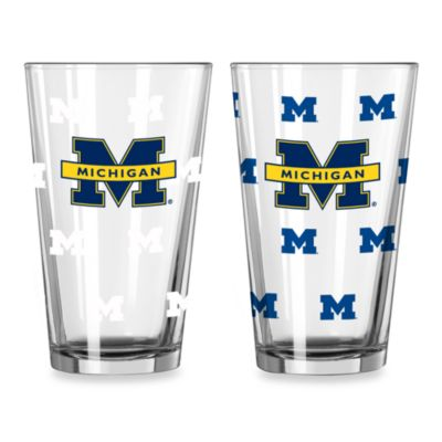 University of Michigan Collegiate Color Changing Logo Glasses (Set of 2)