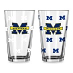 University of Michigan Color Changing 16-Ounce Pint Glasses (Set of 2)