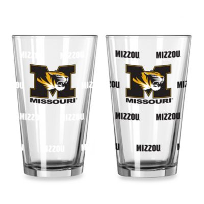 University of Missouri Color Changing 16-Ounce Pint Glasses (Set of 2)