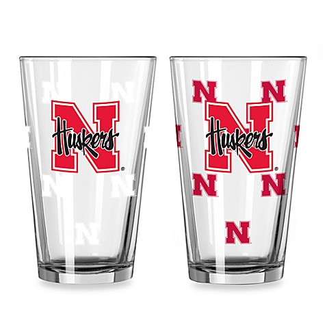 University of Nebraska Color Changing 16-Ounce Pint Glasses (Set of 2)