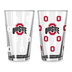 Ohio State University Collegiate Color Changing Logo Glasses (Set of 2)