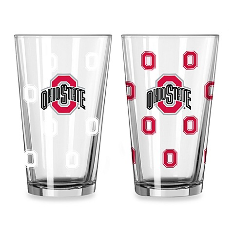 ohio state color changing 16 ounce pint glasses