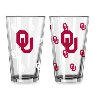 University of Oklahoma Color Changing 16-Ounce Pint Glasses (Set of 2)