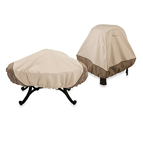 classic accessories veranda fire pit cover bed bath beyond. Black Bedroom Furniture Sets. Home Design Ideas