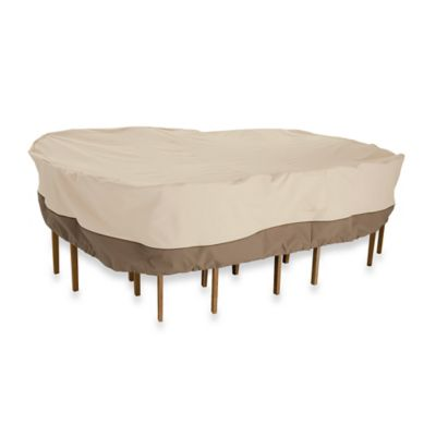 Veranda Medium Oval / Rectangle Patio Table and Chair Set Cover