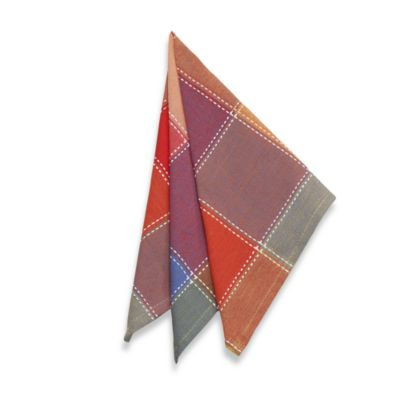 Summer Check Napkins (Set of 4)