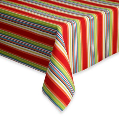"Mystic Stripe Indoor/Outdoor 70"" Round Tablecloth"
