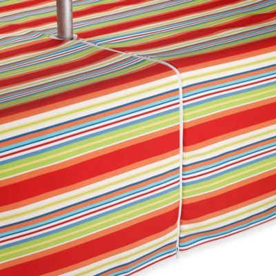 Mystic Stripe Indoor/Outdoor 70-Inch Round Umbrella Tablecloth